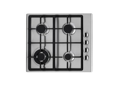 Gas stove top from top view
