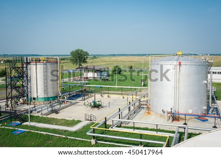 Gas tank in oil Processing Plant #450417964