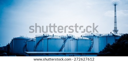 gas tanks for petrochemical plant.
