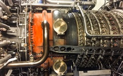 Gas turbine engine or airplane engine use for power plant cogeneration