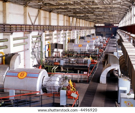 Gas turdine compressor station