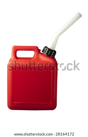 Gasoline can with clipping path on white