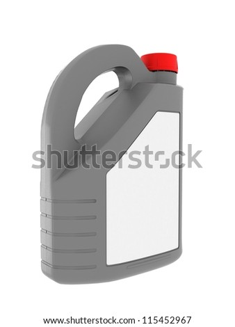 Gasoline jerrican isolated on a white background