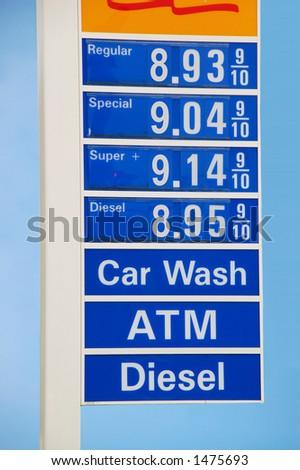 Gasoline Prices - stock photo