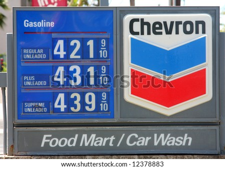 Gasoline prices in Maui, Hawaii. May, 2008