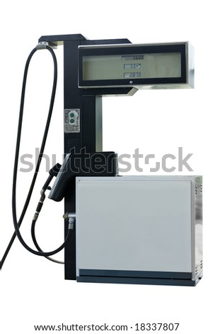 Gasoline pump isolated on white with clipping path - stock photo