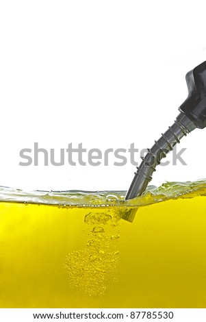 gasoline pump nozzle - stock photo