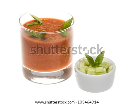 Gaspacho - Ice-cold and spicy vegetable soup of Andalusia, Spain.