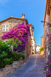 Gassin, medieval village perched in elevated position on the French Riviera, one the most beautiful villages in France