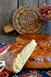 Gata, traditional armenian sweet pastry. Gata. Armenian dessert. Shortbread cookies with nuts, vanilla and sugar. Armenian Streusel -stuffed Pastries (Armenian Gata)