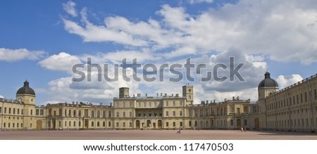 Gatchina, Russia, palace of king Pavel I in surroundings of St. Petersburg.