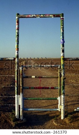 Gate at Cadillac Ranch, Amarillo Texas