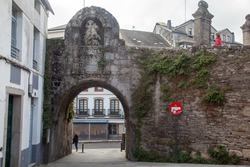Gate of Santiago, one of the entrances in  the Roman Walls of Lugo in Spain - A UNESCO World Heritage Site5