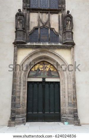 Gate of the All Saints' Church in Wittenberg, Germany