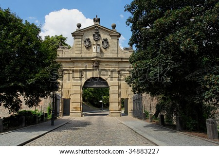 "Gate on ""Vysehrad&quot ; - stock photo"