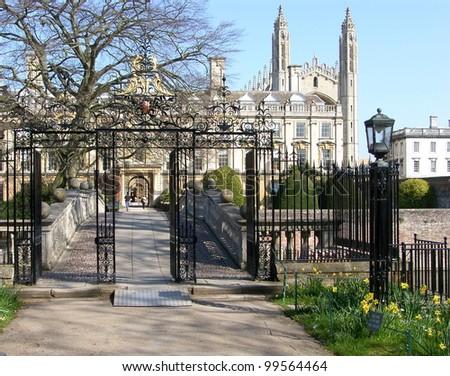 Gate to Clare College, University of Cambridge
