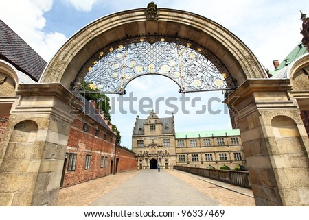 gate to Frederiksborg castle, the largest Renaissance palace in Denmark and Scandinavia