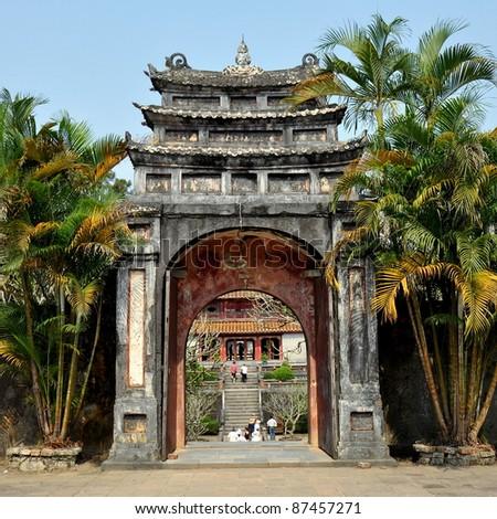 Gate To Minh Lau Pavilion - Hue, Vietnam