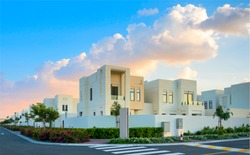 Gated villa compound luxury housing development
