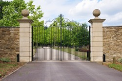 Gates and Driveway of a Country Estate