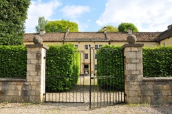 Gates of a Victorian Era English Manor House