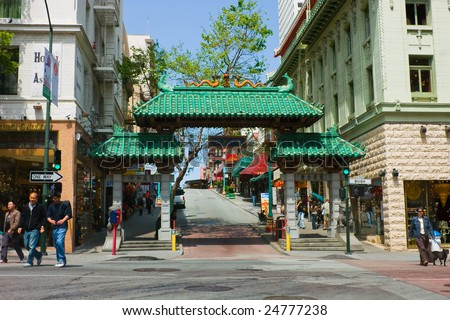 Gates to Chinatown in San Francisco