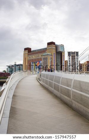 GATESHEAD, ENGLAND - AUGUST 20: The Baltic Centre for Contemporary Art, the largest museum of its kind in the world on August 20, 2013 in Gateshead, England