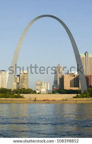 Gateway Arch and skyline of St. Louis, Missouri