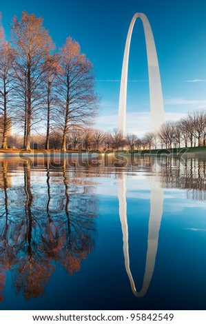 Gateway Arch Reflection at dawn