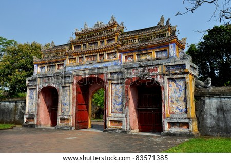 Gateway of Dien Tho - The Imperial City, Hue, Vietnam