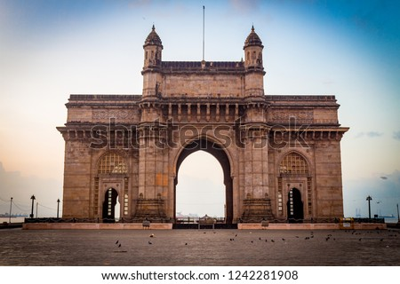 Gateway of India, Mumbai, Maharashtra, India. The most popular tourist attraction, it is the unofficial icon of the city of Mumbai. People from around the world come to visit this monument every year.