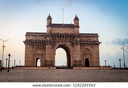 Gateway of India, Mumbai, Maharashtra, India. The most popular tourist attraction, it is the unofficial icon of the city of Mumbai. Tourist's around the world come to visit Gateway of India every year