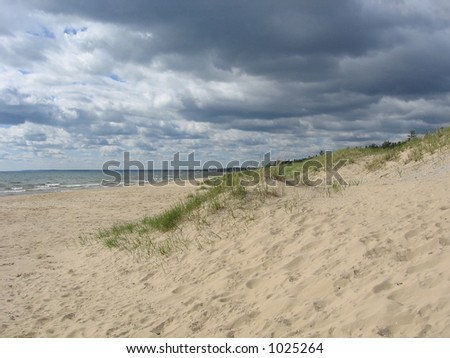 Gathering Clouds on the Shore of Lake Michigan
