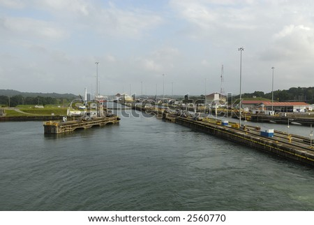 Gatun locks at the Panama Canal