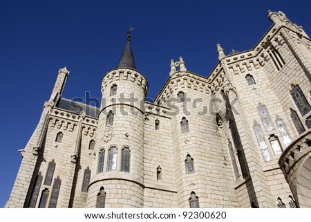 Gaudi palace in  Astorga, Spain