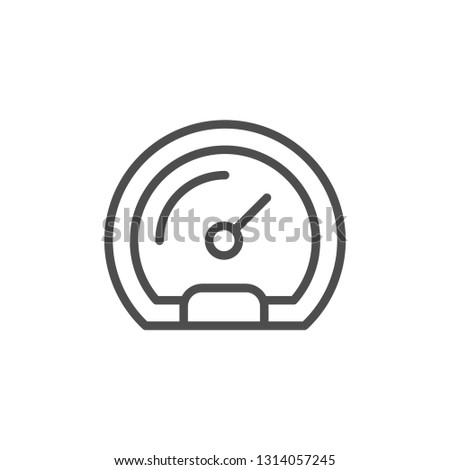 Gauge line icon isolated on white