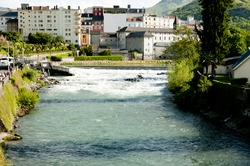 Gave De Pau River - Lourdes - France