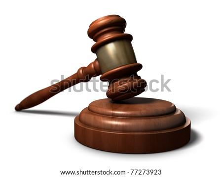Gavel - A court room gavel. One of the icons of justice and balance.