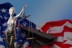 Gavel and USA flag, justice