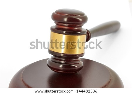 Gavel detail
