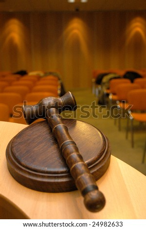 Gavel for auctions or judges sentence tool