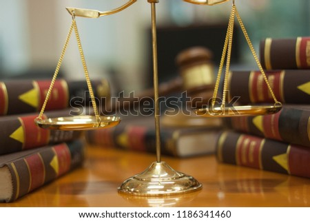 Gavel law and balance law many book legel Law Legel concept. Stock fotó ©