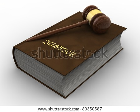 Gavel on book of justice - stock photo