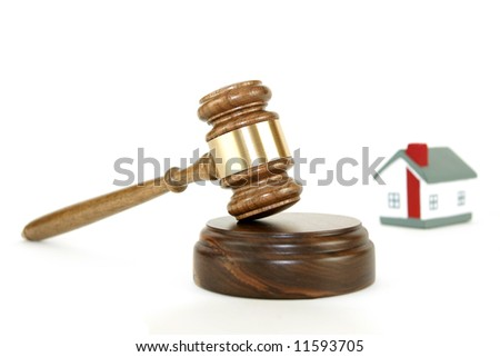 Gavel with house