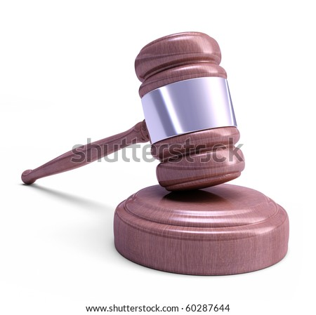 Gavel - Wooden mallet of judge. Highly detailed texture.