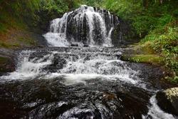 Gavi, an eco-tourist attraction in Idukki, Kerala, India. A small, beautiful waterfall in the jungle.
