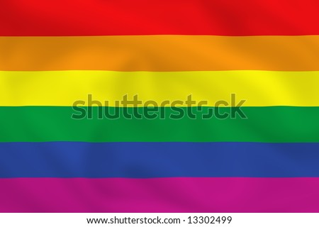 Gay pride waving flag (can be used how background or wallpaper)