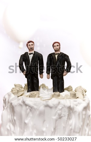Gay/same sex marriage concept.