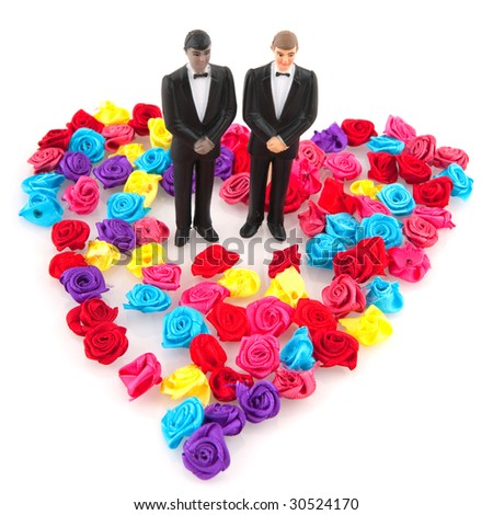 gay wedding in colorful concept