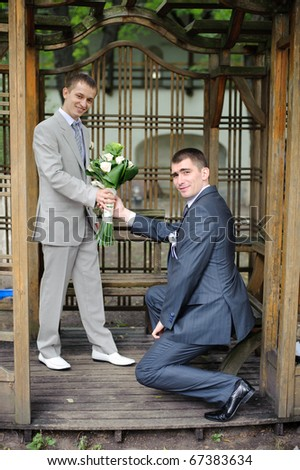 Gay wedding portrait